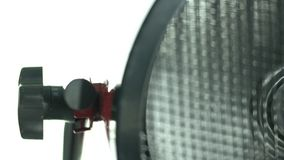 Fan heater turns and stops stock video footage