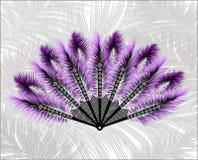 Fan hecha de plumas hermosas Fotos de archivo