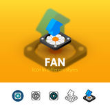 Fan icon in different style Stock Image