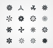 Fan icons collection Royalty Free Stock Photography