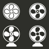 Fan icons set. Fan vector icons set. White illustration isolated for graphic and web design Stock Images