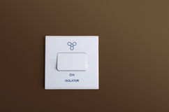 Fan isolator switch Stock Images