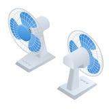 Fan isométrique Icône isométrique d'équipement à la maison de climat Refroidissement à l'air Illustration de Vecteur