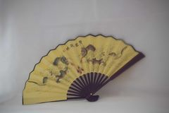 Fan jaune Image stock