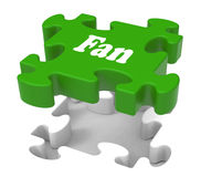 Fan Jigsaw Shows Online Follower Likes Stock Images