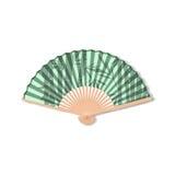 Fan for kabuki dance. Geisha accessories. Stock Photos