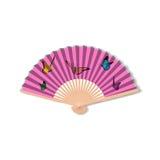 Fan for kabuki dance. Geisha accessories.  Royalty Free Stock Image