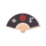 Fan for kabuki dance. Geisha accessories. Stock Photo
