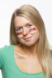 fan kobiety flaga niemiec bawi się potomstwa Zdjęcie Stock