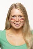 fan kobiety flaga niemiec sporty Fotografia Royalty Free
