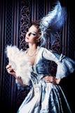 Fan lady royalty free stock photos