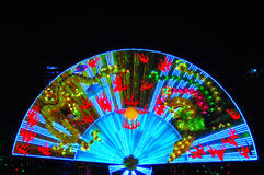 Fan lantern. A colorful fan lights in the New Year Stock Photo