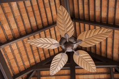 Fan with leaf shape propeller Stock Photography