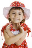 Fan little girl dancing. Royalty Free Stock Image