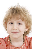 Fan little girl smiling. Royalty Free Stock Images