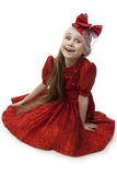 Fan little girl smiling. Royalty Free Stock Photography