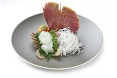 Fan lobster sashimi , japanese food Royalty Free Stock Images