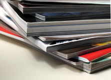 Fan of magazines. Magazines in a stack fanned out Royalty Free Stock Photography