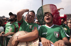 Fan messicani di selezione Immagine Stock