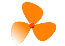 Fan without a metal grid. A fan in orange without a metal grid Royalty Free Stock Photos