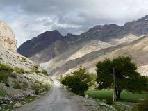 Fan mountains. On the way to Iskanderkul lake in Tajikistan Royalty Free Stock Photo