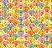 Fan multicolor seamless pattern Stock Image