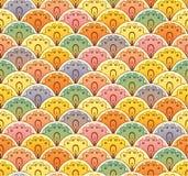 Fan multicolor seamless pattern. Fan multicolor abstract seamless pattern stock illustration