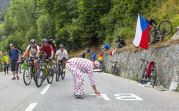 Fan na drodze Le tour de france Obrazy Royalty Free