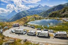 Fan nelle montagne - Tour de France 2015 Immagine Stock Libera da Diritti
