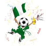 fan Nigeria piłka nożna ilustracja wektor