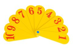 Fan with the numbers Stock Photography