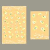 Fan och blommor modell för bordduk Arkivbilder