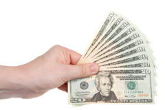Fan Of Two Hundred Dollars Stock Image