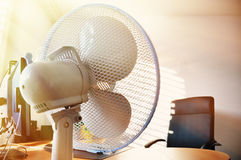 Fan in the office Stock Photos