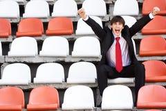 Fan On The Audience Bleachers Stock Image