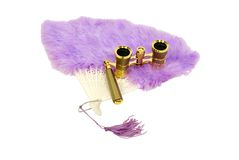 Fan and opera glasses Royalty Free Stock Image