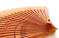 Fan over white Stock Images