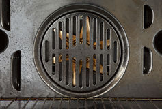 Fan part of an oven Royalty Free Stock Image