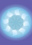 Fan Pattern with Blue Background royalty free stock photography