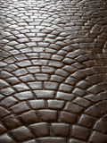Fan pattern, flooring pavers. Flooring pavers in classic fan pattern Stock Photography