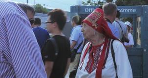 Fan piłki nożnej finał Mordovian krajowy kostium zbiory