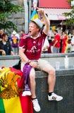 Fan piłki nożnej przygotowywający iść dopasowywać Fotografia Stock