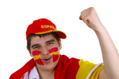 fan piłki nożnej spanish obrazy stock