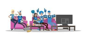 Fan piłki nożnej ustawiający royalty ilustracja