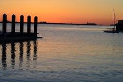Fan Pier Board walk. This photo was taken at Boston Harbor Walk Royalty Free Stock Photos