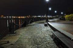 Fan Pier South Boston de la madrugada Imágenes de archivo libres de regalías