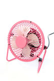 Fan pink color on white Royalty Free Stock Images