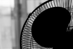 Fan Propeller Silhouette. On light background Royalty Free Stock Photography