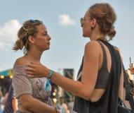 Fan przy atlanta Weekendowym festiwalem muzyki w Kijów, Ukraina Obrazy Stock