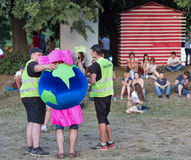 Fan przy atlanta Weekendowym festiwalem muzyki w Kijów, Ukraina Fotografia Stock